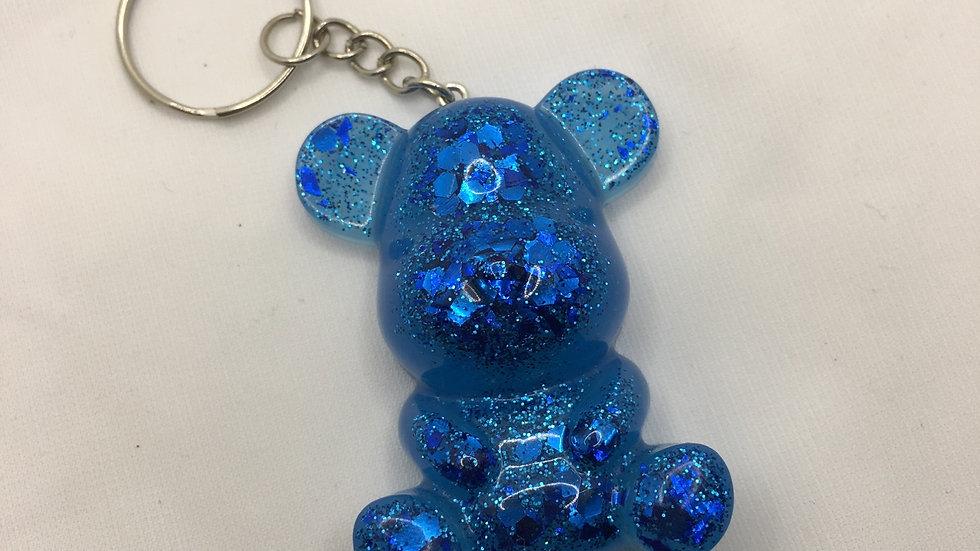 Maman ours paillettes bleues