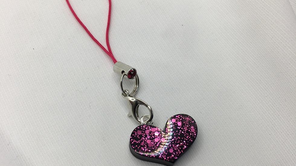 Bijoux de téléphone rose noir