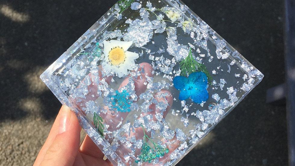 Coupelle fleurie bleue