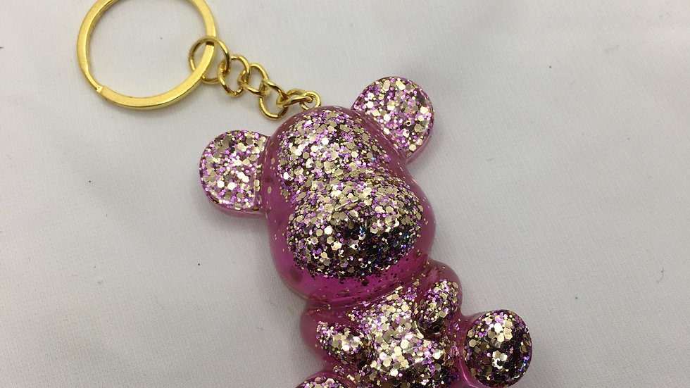 Maman ours paillettes roses gold