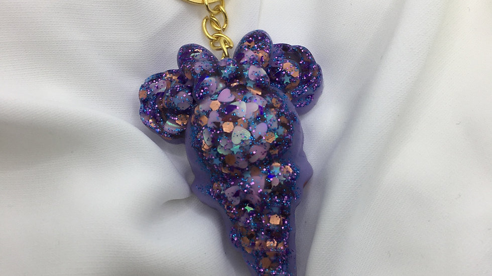 Glace paillettes violettes