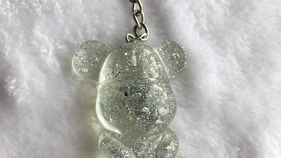 Maman ours paillettes argentées