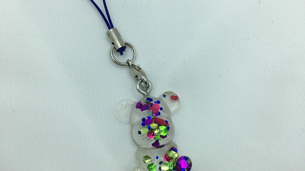 Bijoux de téléphone ourson multicolore