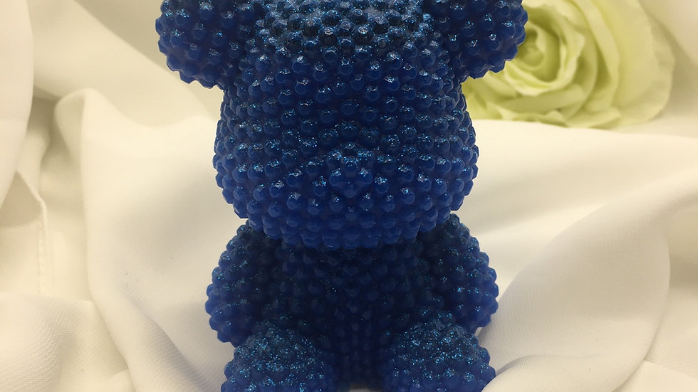 Grand ours relief bleu électrique