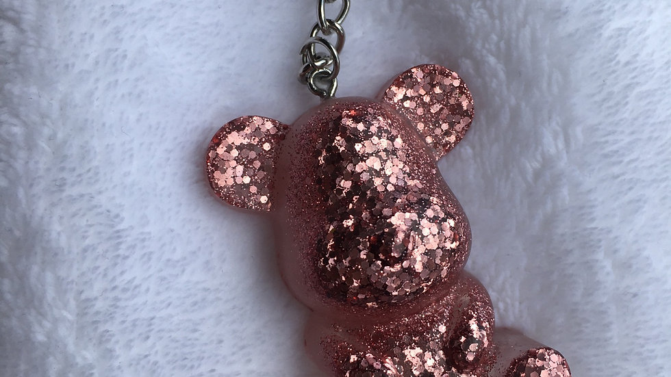 Maman ours paillettes rose gold