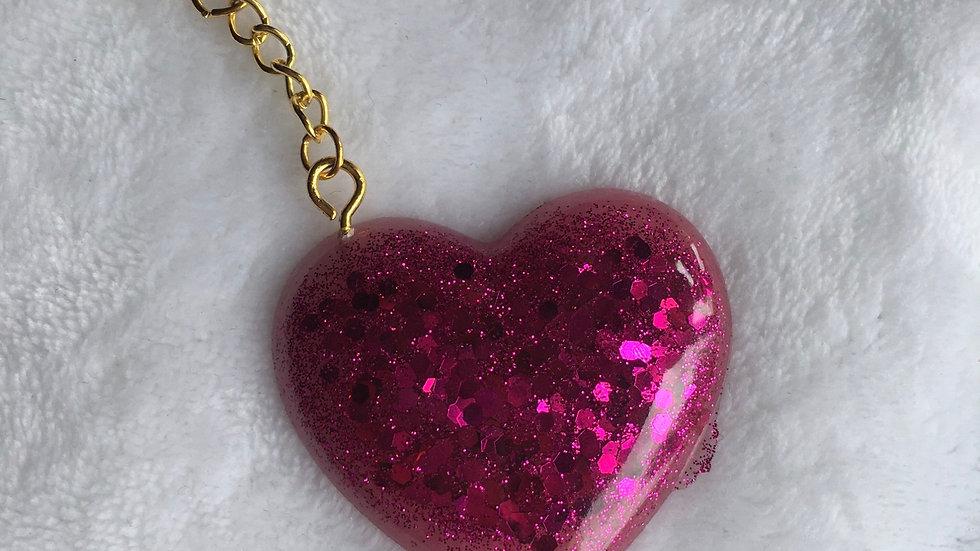 Cœur rose fushia