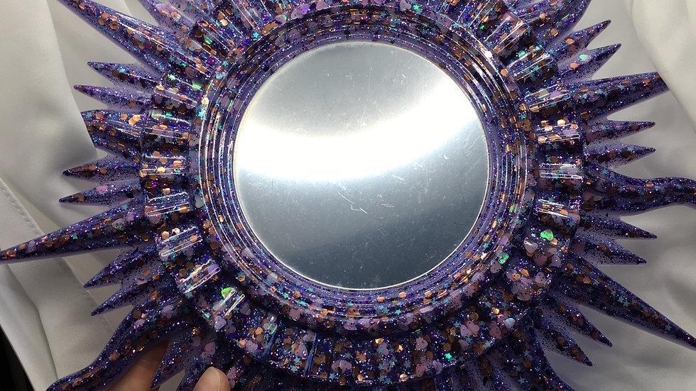 Grand miroir soleil bleu nuit