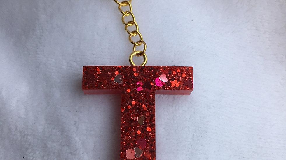 Porte clef lettre T