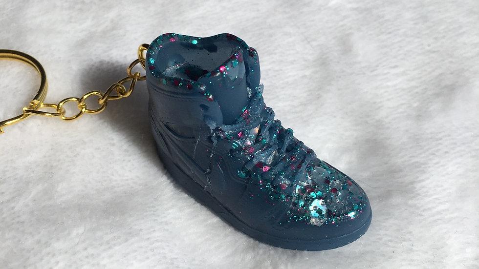 Basket bleu jean pailletée