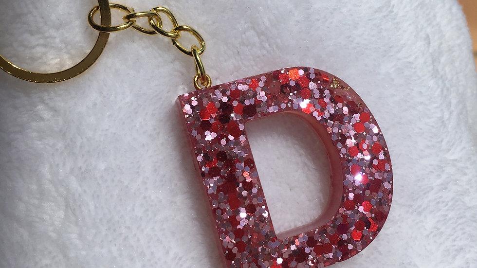Porte clef lettre d