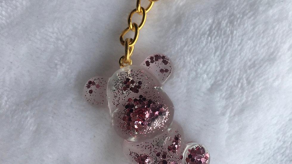 Moyen ours rose transparent