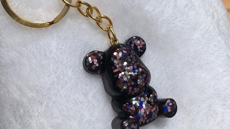 Moyen ours noir paillettes