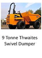 9 Tonne Thwaites Swivel Dumper
