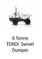 6 Tonne Terex Swivel Dumper