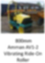 800mm Amman Vibrating Ride-On Roller