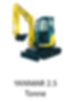 2.5 Tonne Yanmar Mini Excavator