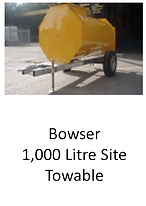 Bowser 1,000 Litre Site Towable for hire