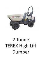 2 Tonne Terex High Lift Dumper