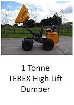 1 Tonne Terex High Lift Dumper