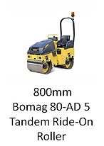 800mm Bomag 80-AD 5 Ride-On Roller