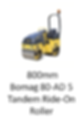 Bomag 800mm Ride-On Roller For Hire