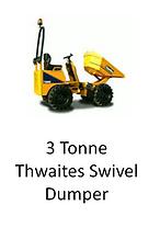 3 Tonne Thwaites Swivel Dumper