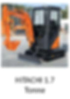 Hitachi 1.7 Tonne Mini Excavator