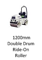 1200mm Double Drum Ride-On Roller