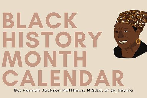 Black History Month Calendar 2021