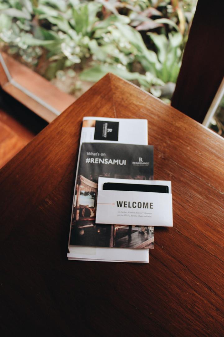 Room check-in at Renaissance Samui Resort and Spa