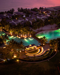 Night shot of Marriott Rayong Resort and Spa