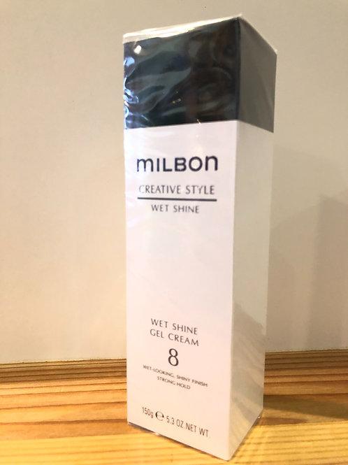 ミルボン ウェットシャイン ジェルクリーム 8  150g