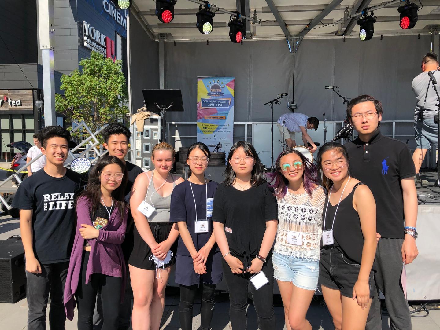 Stage Crew Volunteers at the Kickoff Concert, June 29, 2019