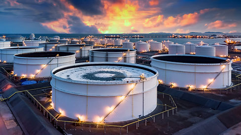 Storage of chemical products like oil, p