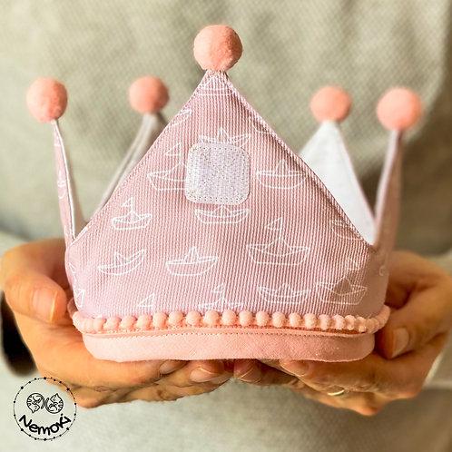 Corona cumpleaños - Barquitos Rosa