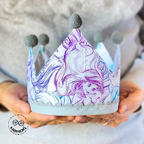 Corona cumpleaños - La Sirenita