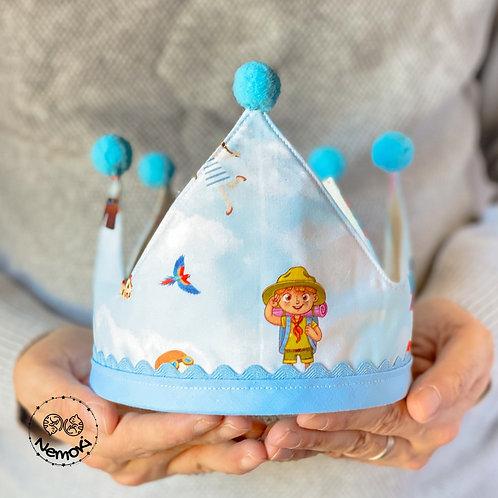 Corona cumpleaños - Up Azul