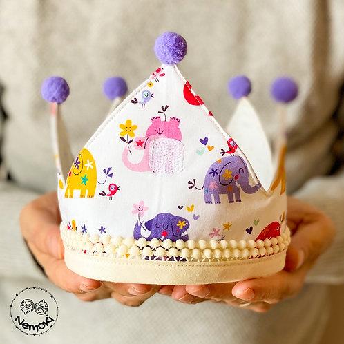 Corona cumpleaños - Elefantes