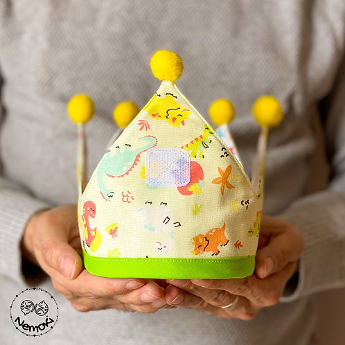 Corona cumpleaños - Dinos Verde