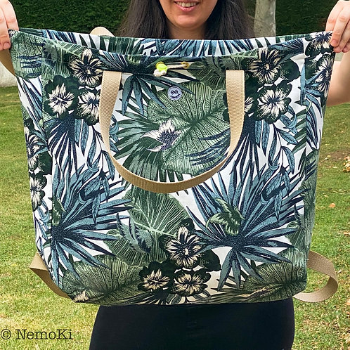 Bolsa XXL - Modelo hojas tropicales