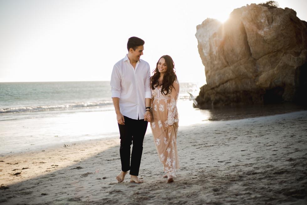 J&L Malibu Cave Engagement Shoot