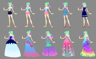 Sirenetta Character Design Concepts