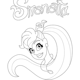 Tiny Siren Coloring Pages