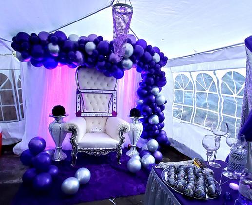 Purple Silver Birthday