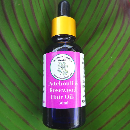 Patchouli & Rosewood Hair Oil