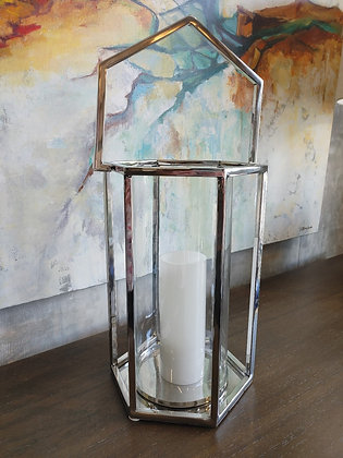 Large Union Hurricane Glass Lantern (Hexagon)