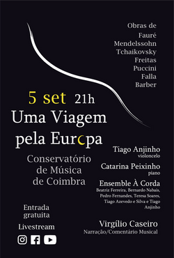 À Corda Cello Sessions - Programa Dia 5 de Setembro