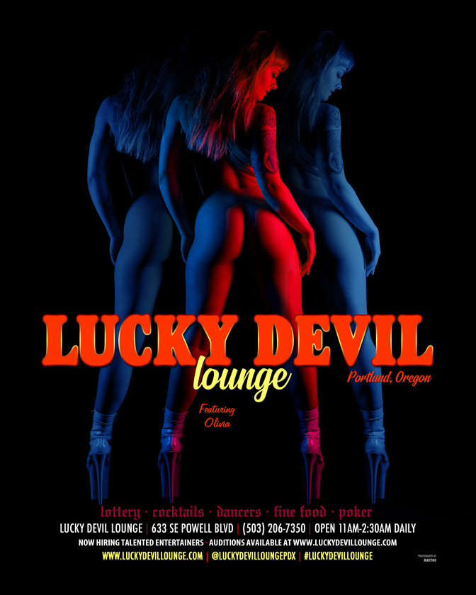 LUCKY DEVIL DANCER SCHEDULE • TUE, APR 30TH - MON, MAY 6TH • 2019