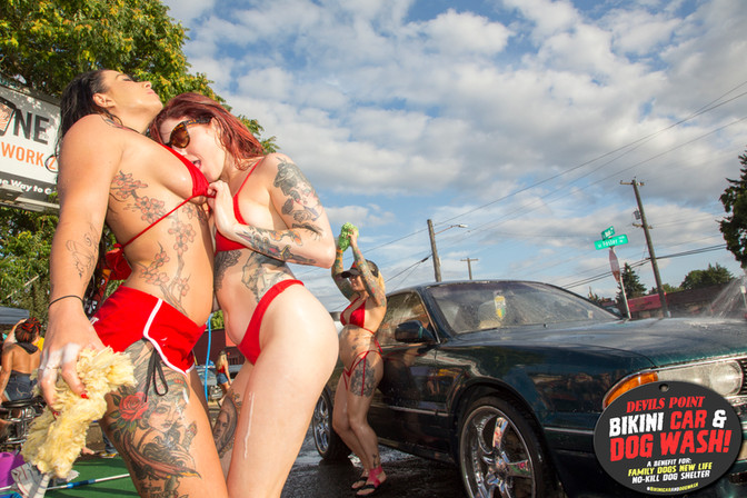 11TH ANNUAL BIKINI CAR AND DOG WASH PICS!