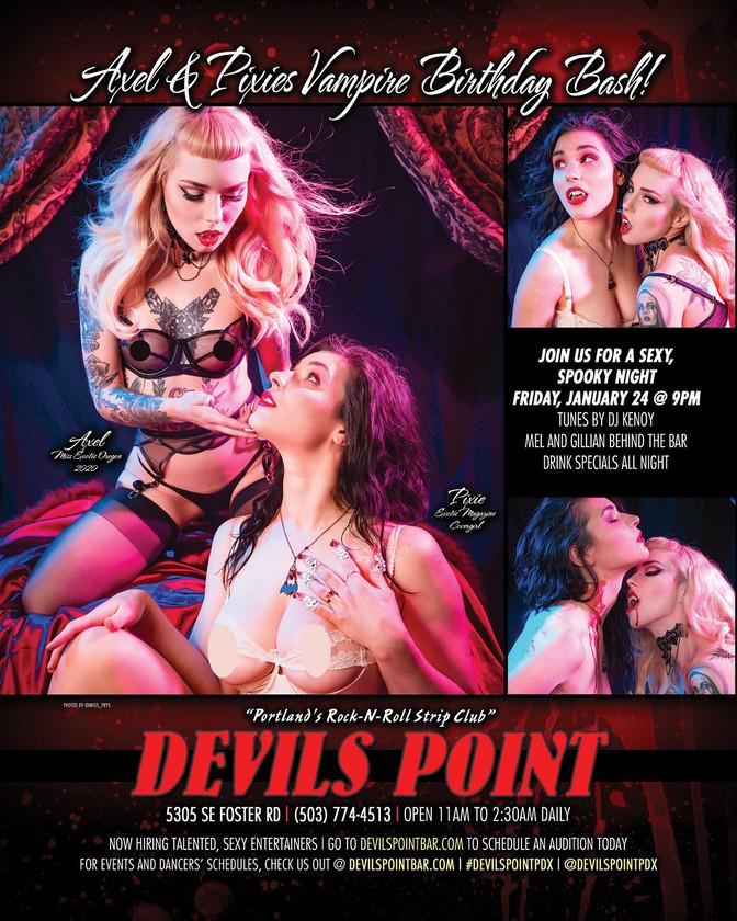 DEVILS POINT DANCER SCHEDULE • TUE, DEC 31ST - MON, JAN 6TH • 2020